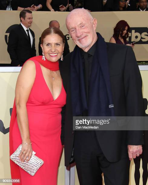 Gennera Banks and Jonathan Banks arrive at the 24th Annual Screen Actors Guild Awards at The Shrine Auditorium on January 21 2018 in Los Angeles...