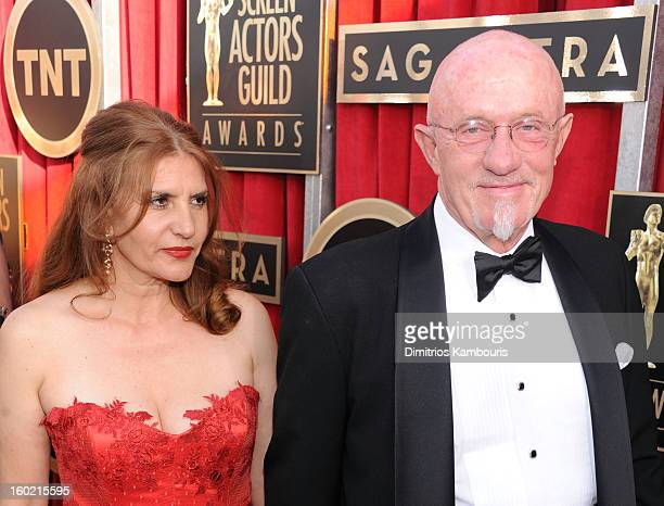 Gennera Banks and Jonathan Banks attend the 19th Annual Screen Actors Guild Awards at The Shrine Auditorium on January 27, 2013 in Los Angeles,...