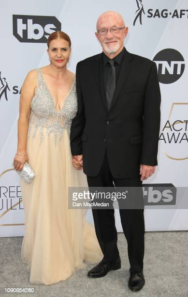 Gennera Banks and Jonathan Banks attend the 25th Annual Screen Actors Guild Awards at The Shrine Auditorium on January 27 2019 in Los Angeles...