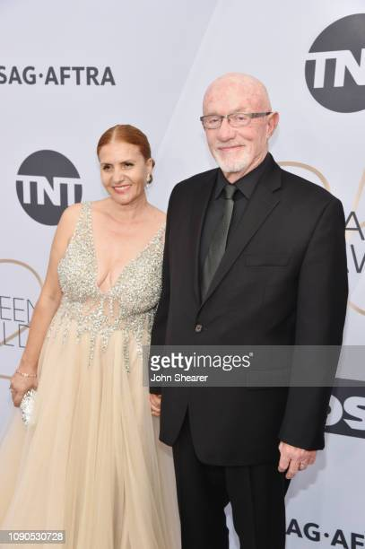 Gennera Banks and Jonathan Banks attend the 25th Annual Screen ActorsGuild Awards at The Shrine Auditorium on January 27, 2019 in Los Angeles,...