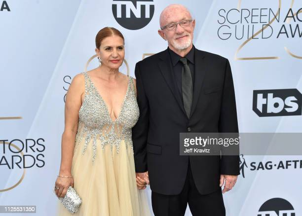 Gennera Banks and Jonathan Banks attend the 25th Annual Screen ActorsGuild Awards at The Shrine Auditorium on January 27 2019 in Los Angeles...
