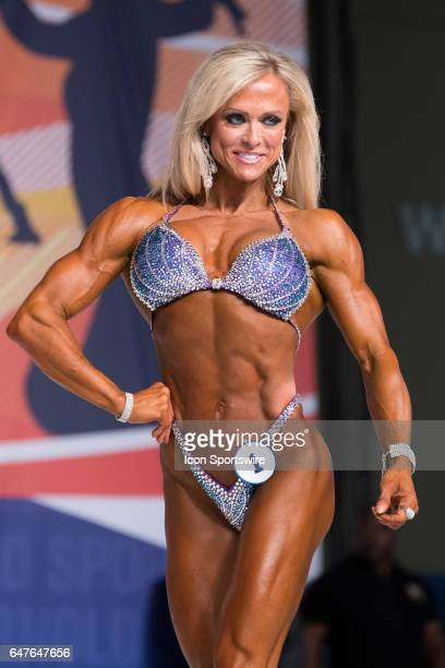 Gennifer Strobo competes in Figure International as part of the Arnold Sports Festival on March 3 at the Greater Columbus Convention Center in...