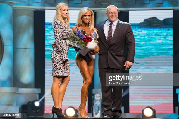 Gennifer Strobo is awarded fifth place in Figure International as part of the Arnold Sports Festival on March 3 at the Greater Columbus Convention...