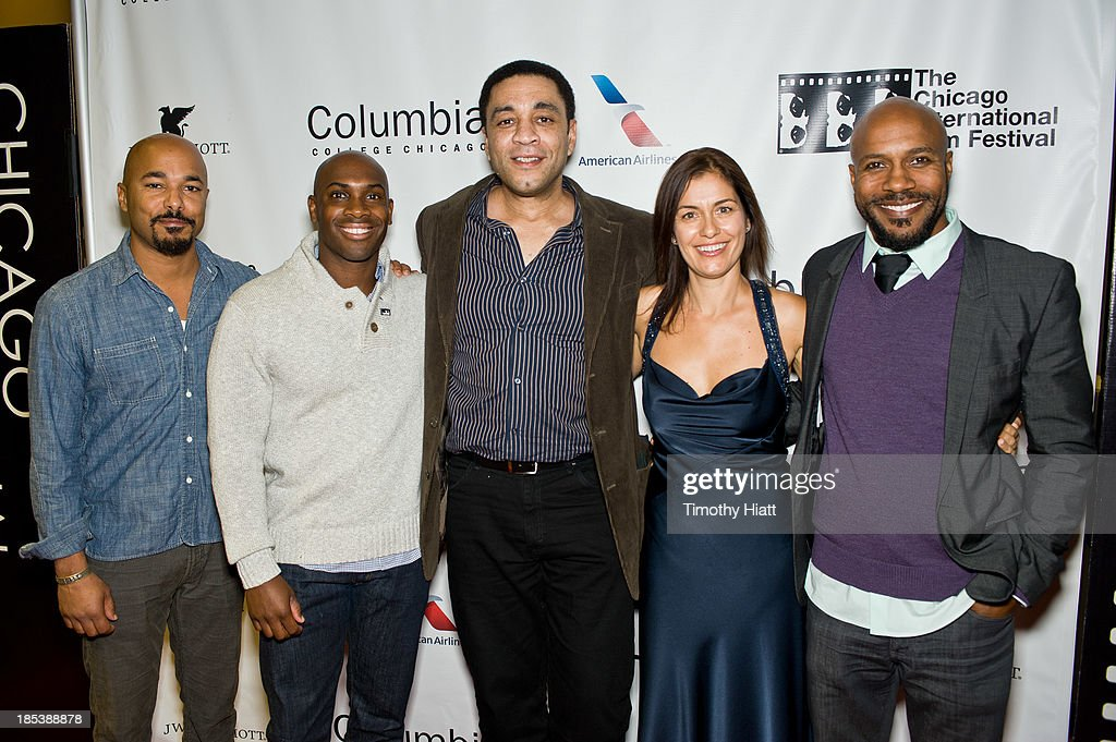 Geno Monteiro, Amad Jackson, Harry Lennix, Albena Dodeva, and Danny Green attend the 'H4' premiere at AMC River East Theater on October 19, 2013 in Chicago, Illinois.