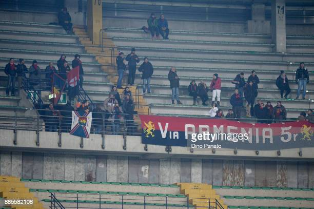 Genoa CFC fans show their support during the Serie A match between Hellas Verona FC and Genoa CFC at Stadio Marc'Antonio Bentegodi on December 4 2017...