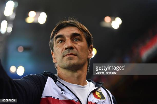 Genoa CFC head coach Gian Ivan Juric looks on during the Serie A match between Genoa CFC and Bologna FC at Stadio Luigi Ferraris on September 30 2017...