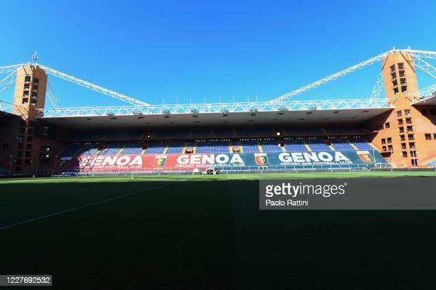 Genoa CFC stands empty prior to the Serie A match between Genoa CFC and US Lecce at Stadio Luigi Ferraris on July 19, 2020 in Genoa, Italy.