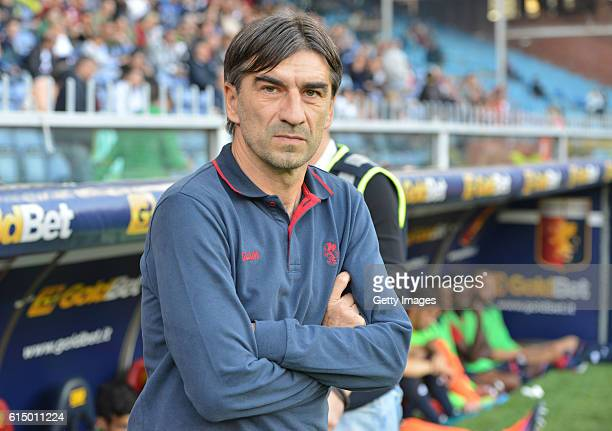 Genoa coach Ivan Juric during the Serie A match between Genoa CFC and Empoli FC at Stadio Luigi Ferraris on October 16 2016 in Genoa Italy