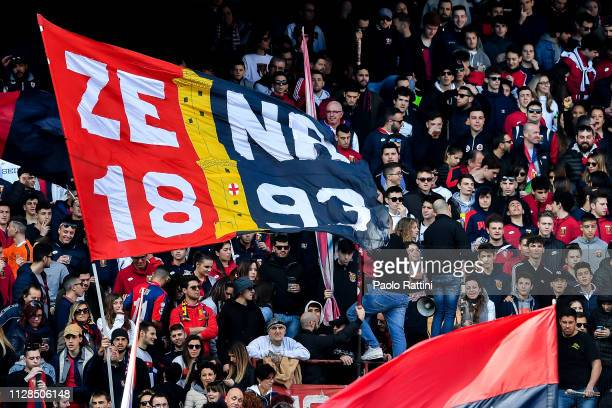 Genoa fans before the Serie A match between Genoa CFC and Frosinone Calcio at Stadio Luigi Ferraris on March 3 2019 in Genoa Italy