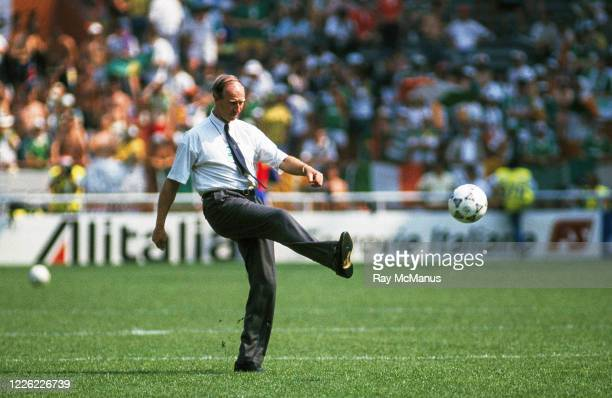 Genoa , Italy - 25 June 1990; Republic of Ireland manager Jack Charlton prior to the FIFA World Cup 1990 Round of 16 match between Republic of...