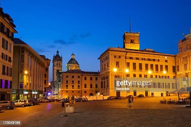 Genoa Italy Downtown Piazza Matteotti
