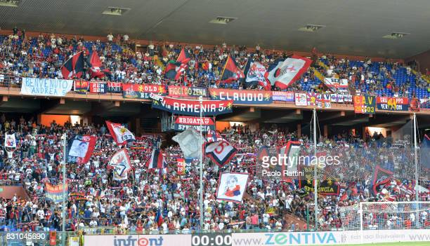 Genoa supporters during the TIM Cup match between Genoa CFC and AC Cesena at Stadio Luigi Ferraris on August 13 2017 in Genoa Italy
