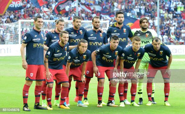 Genoa Team during the TIM Cup match between Genoa CFC and AC Cesena at Stadio Luigi Ferraris on August 13 2017 in Genoa Italy