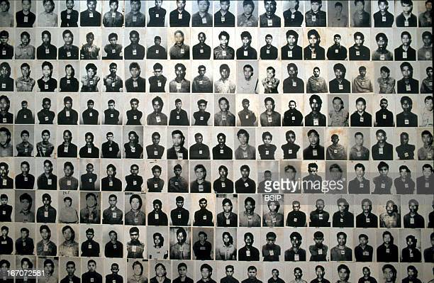 Genocide Tuol Sleng museum Photographs of Khmer Rouge genocide victims Cambodia