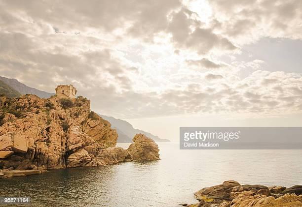 Genoese watchtower at Porto, Corsica.