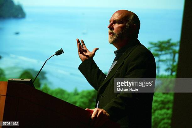 Genomics pioneer J Craig Venter speaks after a screening of 'Cracking the Ocean Code' at the American Museum of Natural History on March 12 2006 in...