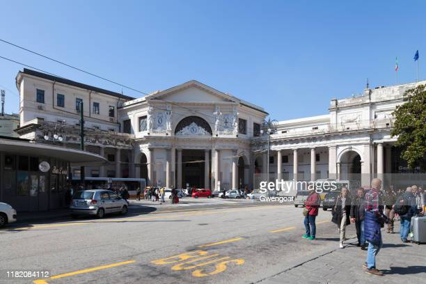 genova piazza principe railway station - gwengoat stock pictures, royalty-free photos & images