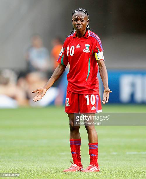 Genoveva Anonman Nze of Equatorial Guinea looks dejected during the FIFA Women's World Cup 2011 Group D match between Equatorial Guinea and Brazil at...
