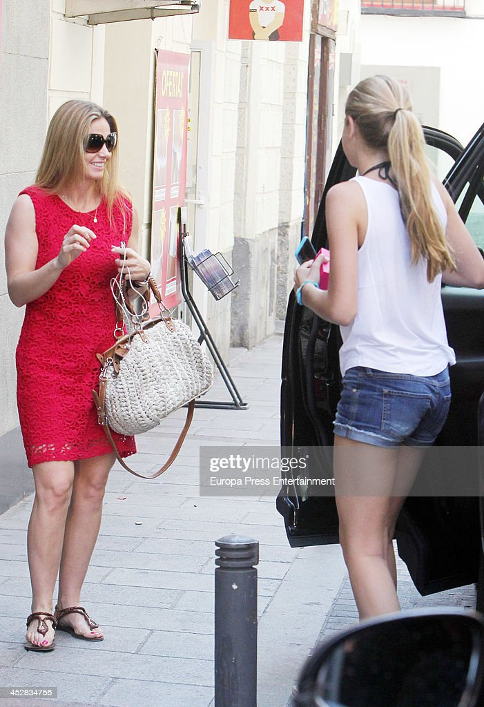 Genoveva Casanova and her daughter Amina Martinez de Irujo are seen on July 25, 2014 in Madrid, Spain.