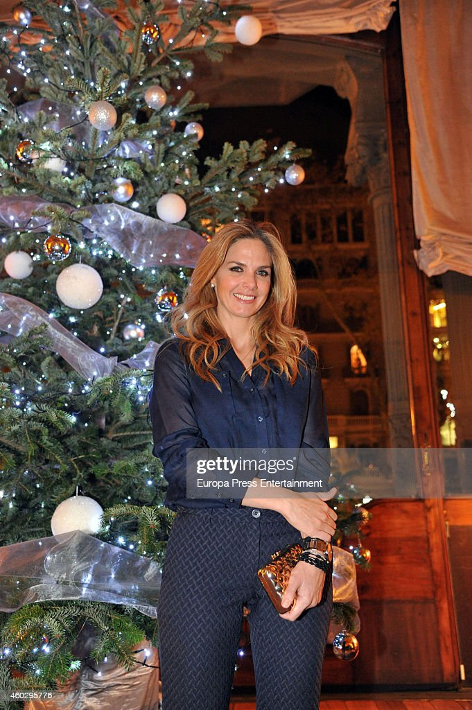 Genoveva Casanova attends her 'No Blink' Humanitarian Photography Exhibition opening at Equestrian Circle Club on December 10, 2014 in Barcelona, Spain.