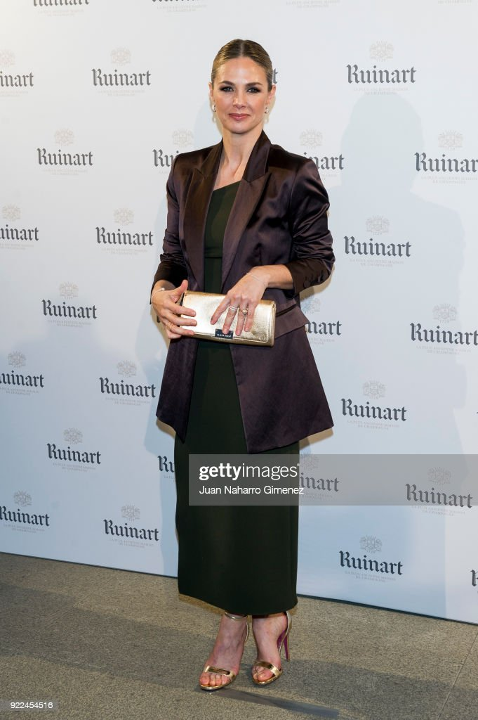 Genoveva Casanova attends the celebration of the new ARCO edition with Ruinart at Marlborough Garelly on February 21, 2018 in Madrid, Spain.