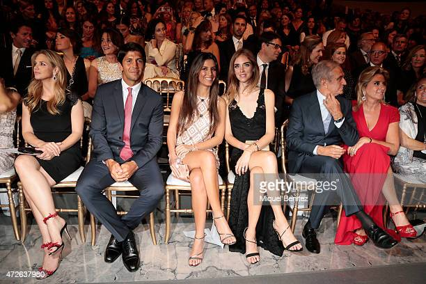 Genoveva Casanova Spanish tennis player Fernando Verdasco ana Boyer Chiara Ferragni Alberto Palatchi and Susana Gallardo attend the Pronovias fashion...