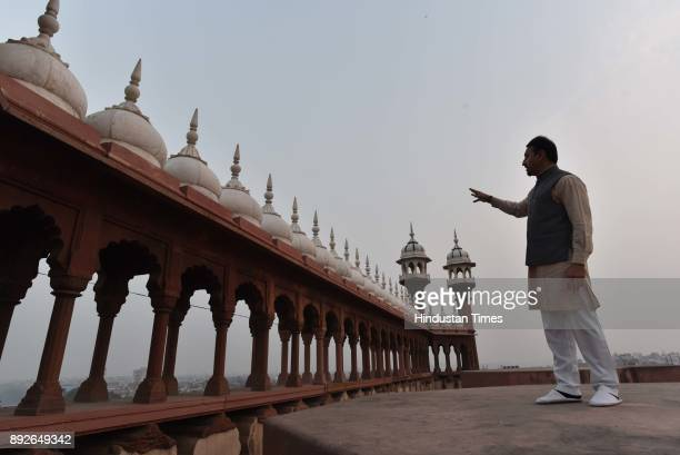 A genral view of Jama Masjid on December 13 2017 in New Delhi India The 17th century mosque built by Mughal emperor Shahjahan has started...