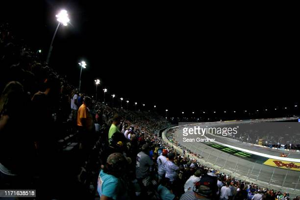 A genral view of racing duirng the Monster Energy NASCAR Cup Series Bojangles' Southern 500 at Darlington Raceway on September 01 2019 in Darlington...