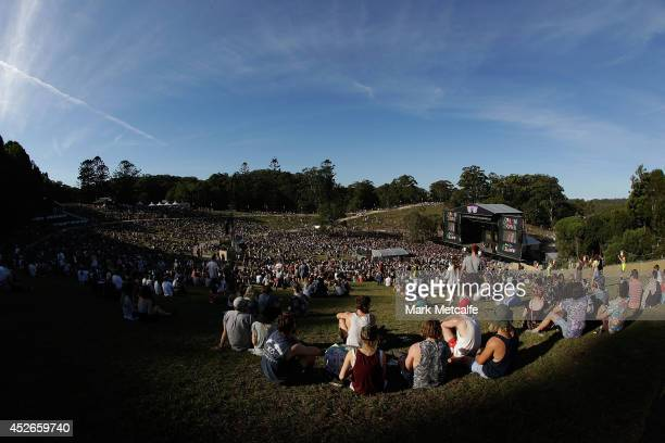 A genral view of the amphitheatre during day one of Splendour In the Grass 2014 on July 25 2014 in Byron Bay Australia