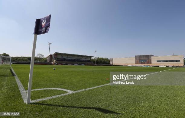 A genral view of the Loughborough University Stadium during the UEFA European Under17 Championship Group Stage match between Serbia and Germany at...