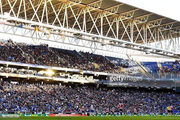 Genral viw of the action during the La Liga match between RCD Espanyol and Athletic Bilbao at CornellaEl Prat Stadium on November 6 2016 in Barcelona...