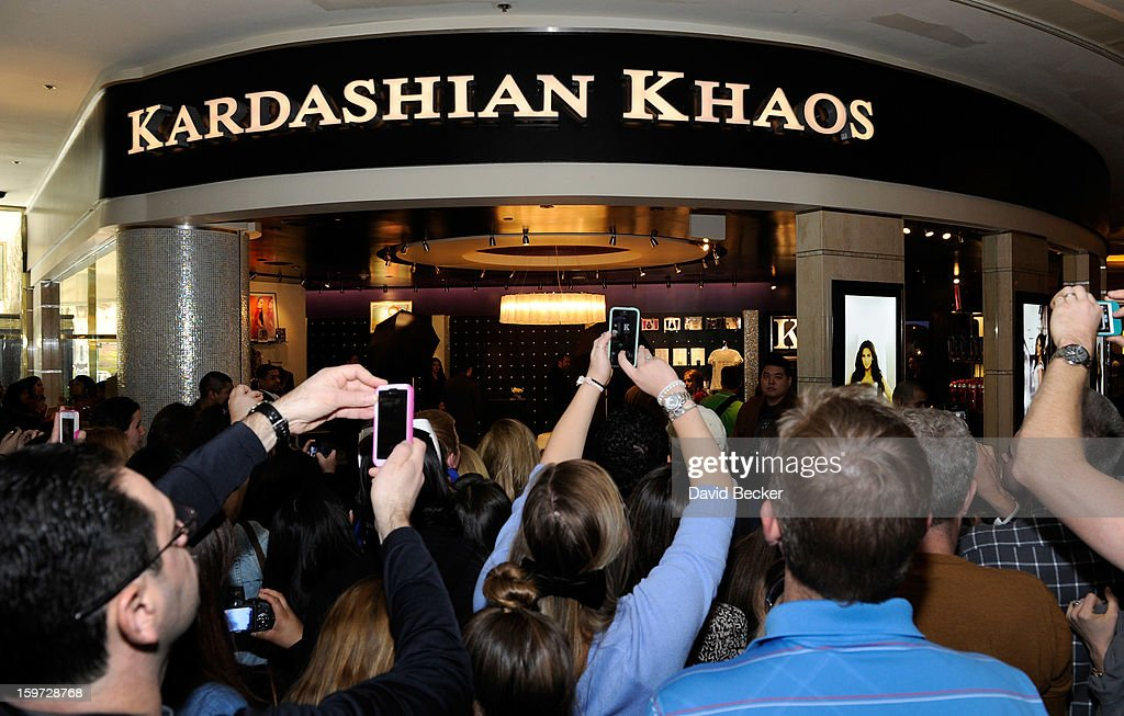 A genraral view of atmosphere is seen as television personality Kourtney Kardashian arrives for an appearance at the Kardashian Khaos store at The Mirage Hotel & Casino on January 19, 2013 in Las Vegas, Nevada.