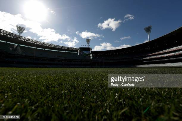 A genreal view prior to the round 20 AFL match between the Essendon Bombers and the Carlton Blues at Melbourne Cricket Ground on August 5 2017 in...