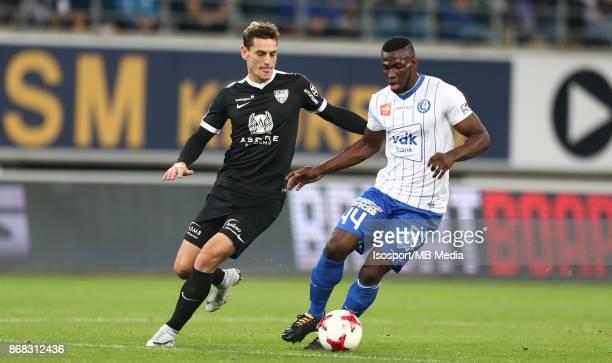 20171024 Gent Belgium / Kaa Gent v As Eupen / 'nNicolas VERDIER Anderson ESITI'nFootball Jupiler Pro League 2017 2018 Matchday 12 / 'nPicture by...
