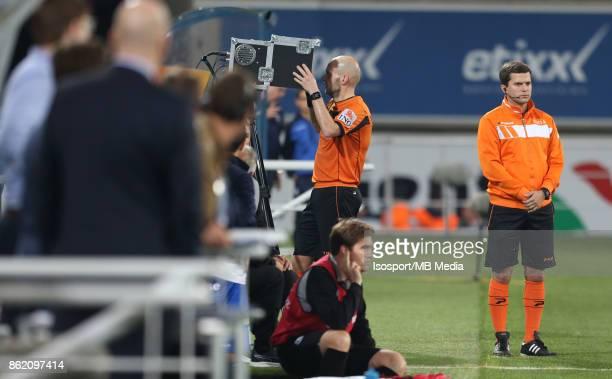 20171014 Gent Belgium / Kaa Gent v WaaslandBeveren / 'nSebastien DELFERIERE Video assistant referee VAR'nFootball Jupiler Pro League 2017 2018...