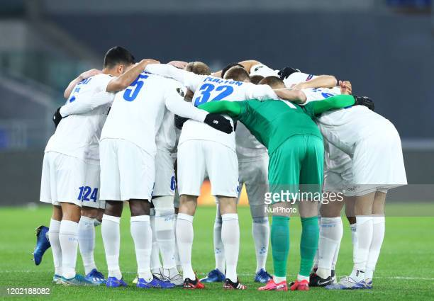 Gent players during the football UEFA Europa League Round of 32 match AS Roma v Kaa Gent at the Olimpico Stadium in Rome, Italy on February 20, 2020