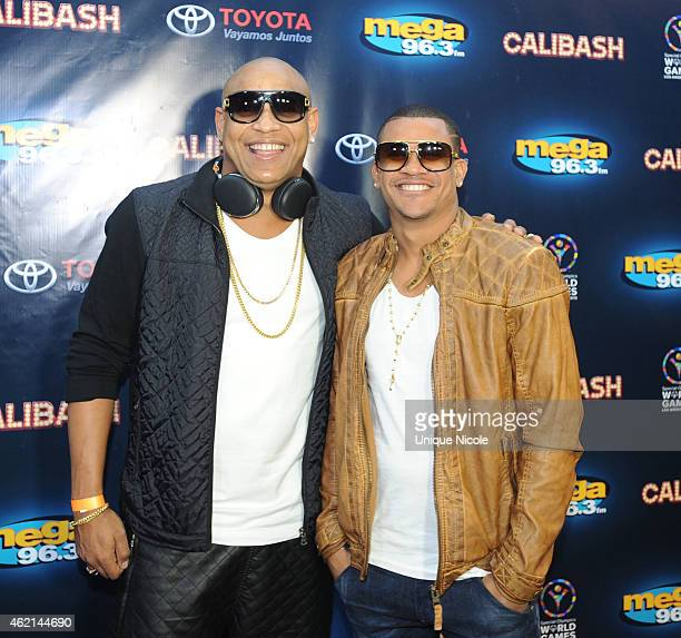 Gente de Zona attends the Mega 963 Calibash at Staples Center on January 24 2015 in Los Angeles California