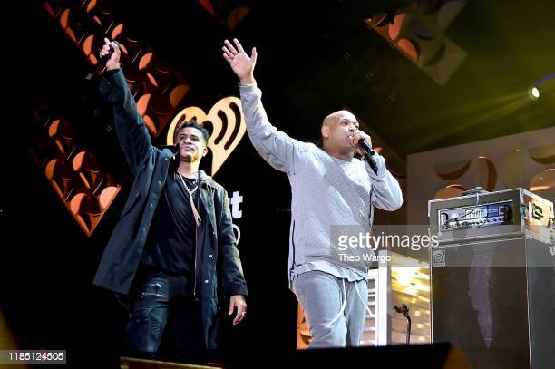 Gente de Zona performs onstage at the 2019 iHeartRadio Fiesta Latina at AmericanAirlines Arena on November 2 2019 in Miami Florida