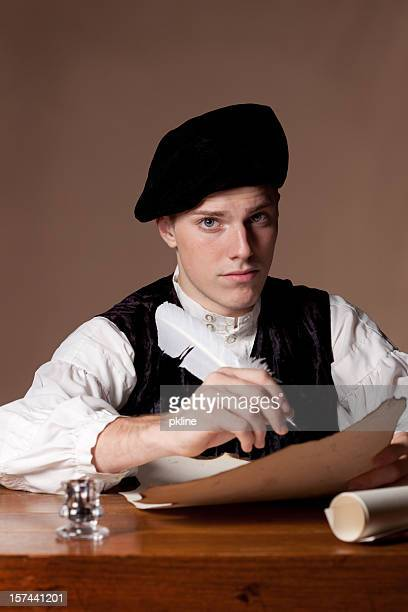 gentelman writing - 18th century style stock pictures, royalty-free photos & images