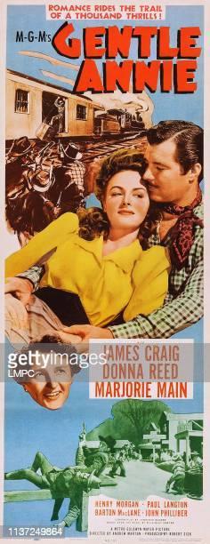 Donna Reed James Craig bottom Marjorie Main on poster art 1944