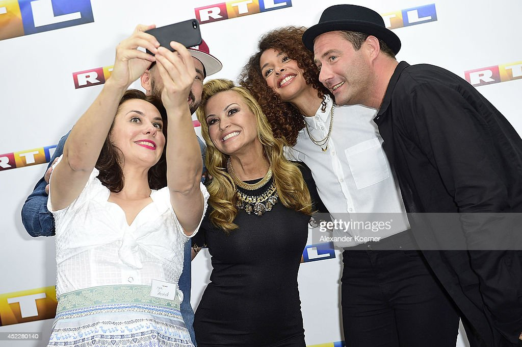 Gentleman, Anastacia, Joy Denalane and Sasha attends the offical Television programm-preview of german television production RTL on July 17, 2014 in Hamburg, Germany. They will be a member of the jury of the new music show 'Rising Star', which will be shown nationwide later this year.