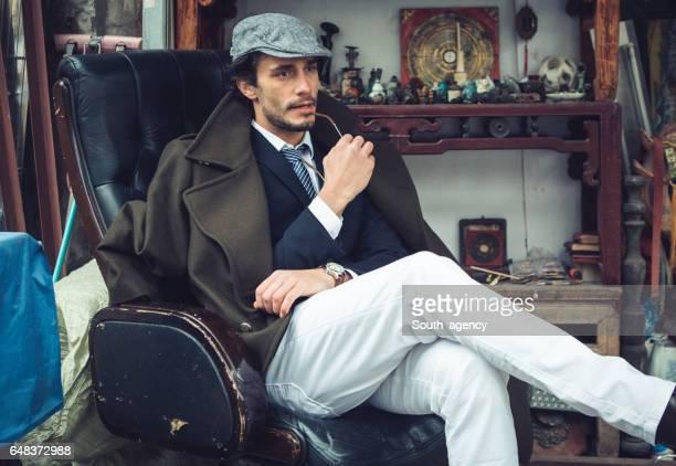 Caballero en silla
