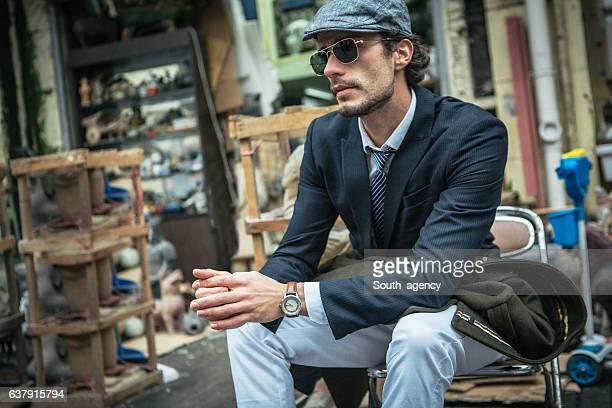 Gentleman sitting