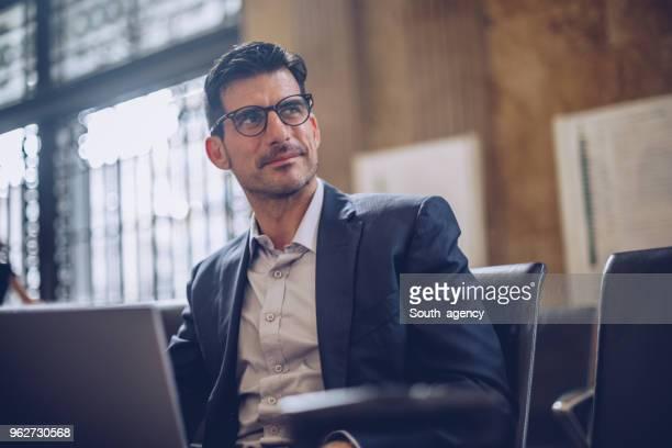Gentleman using laptop