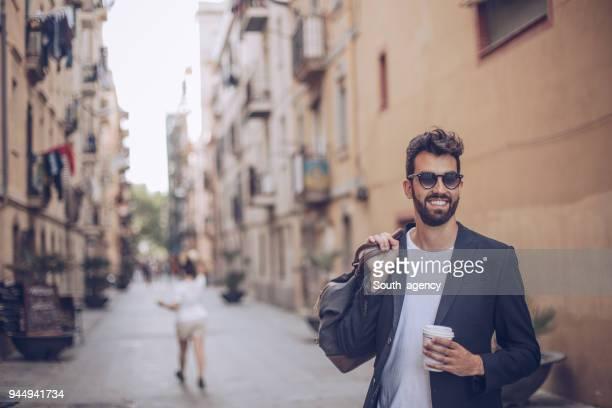 市のバッグと紳士 - ジャケット ストックフォトと画像
