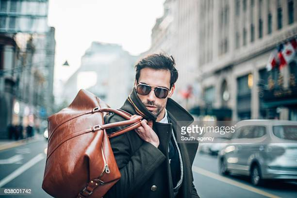 Gentleman with bag