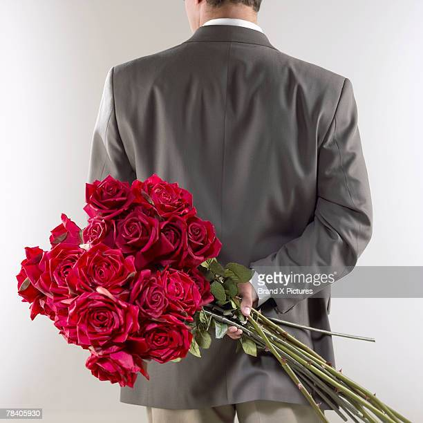 Gentleman with red roses