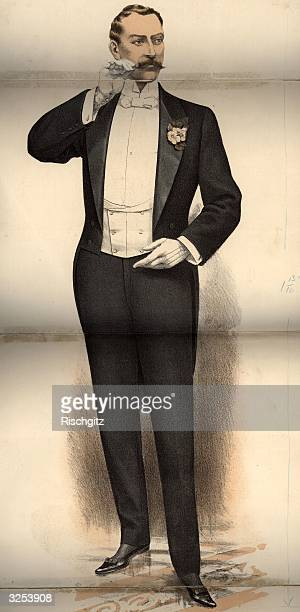A gentleman's evening dress of tailcoat and white tie Tailor Cutter pub 1902