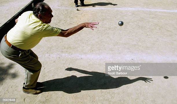 Gentlemen play boules in Cannes during the 56th International Cannes Film Festival on May 15 2003 in Cannes France