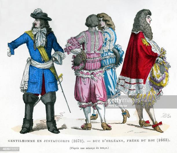 Gentlemen's costume and the Duke of Orleans Brother to King Louis XIV 1663 Philippe I Duke of Orleans founded the House of Orleans a cadet branch of...